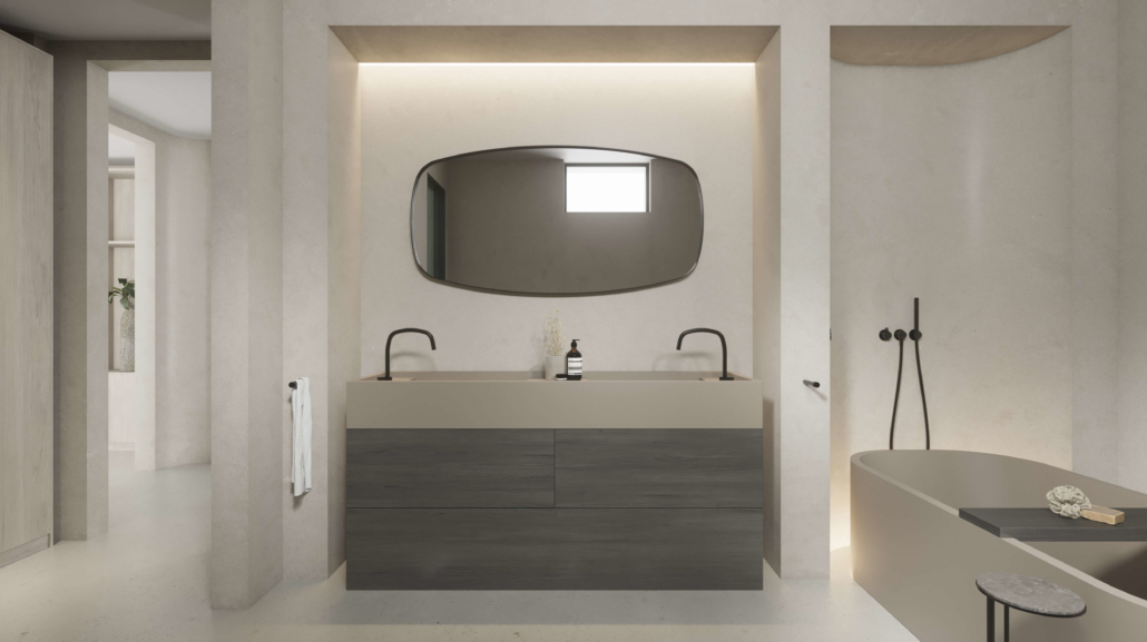 COCOON bathroom project with double sink