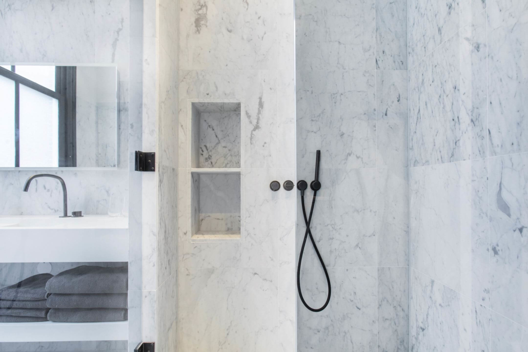 COCOON marble shower with detachable shower faucet