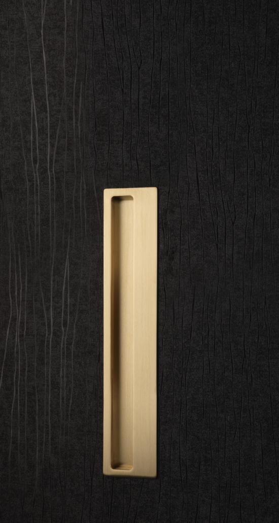 Designer Doorware gold rectangle handle