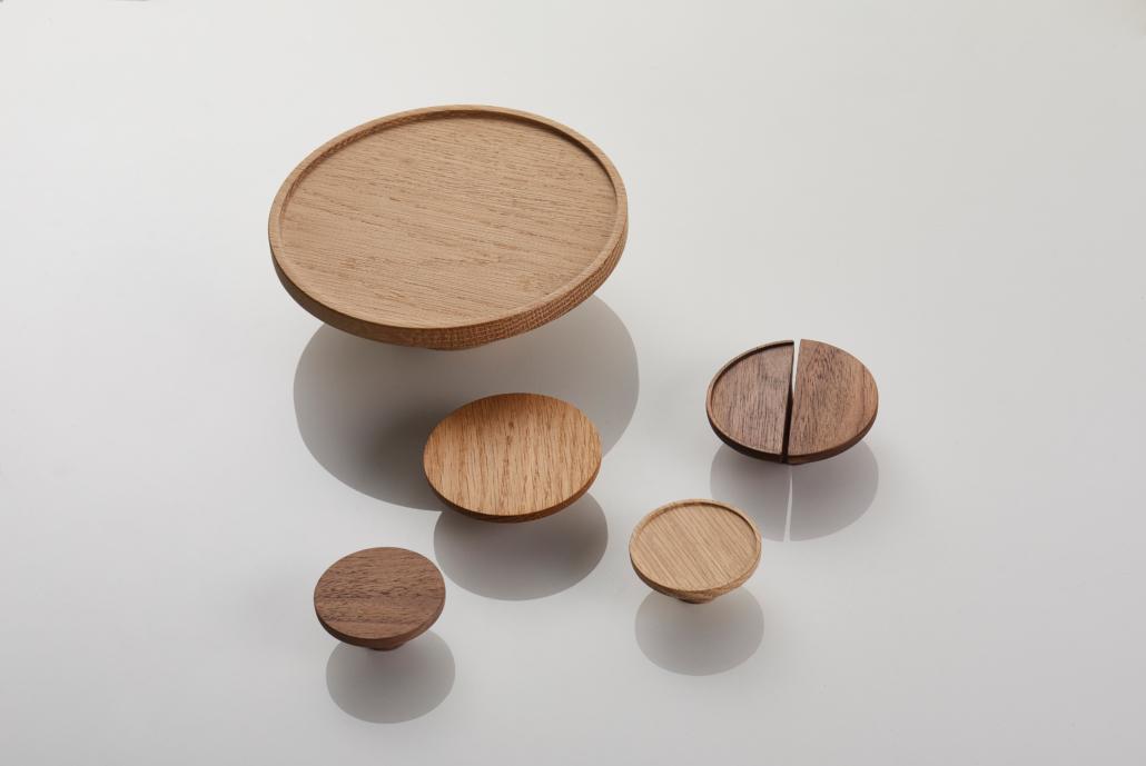 Designer Doorware wooden rounded handles