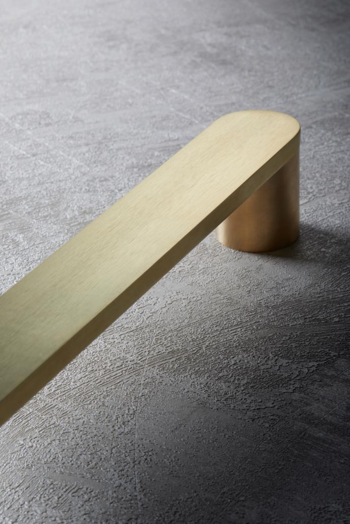 Designer Doorware gold rounded handle