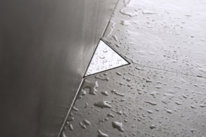 ESS Easy Drain triangle silver drain for shower