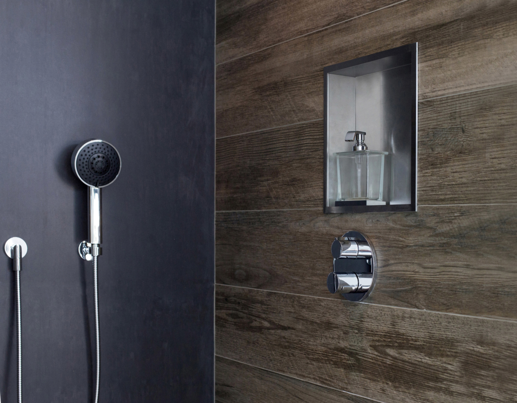 ESS Easy Drain bathroom container for storage in shower