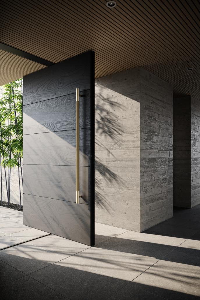 Designer Doorware gold large long door handle great for the front door