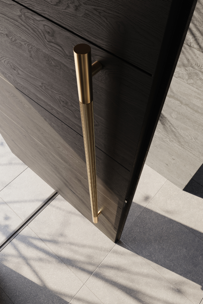 Designer Doorware gold large long door handle