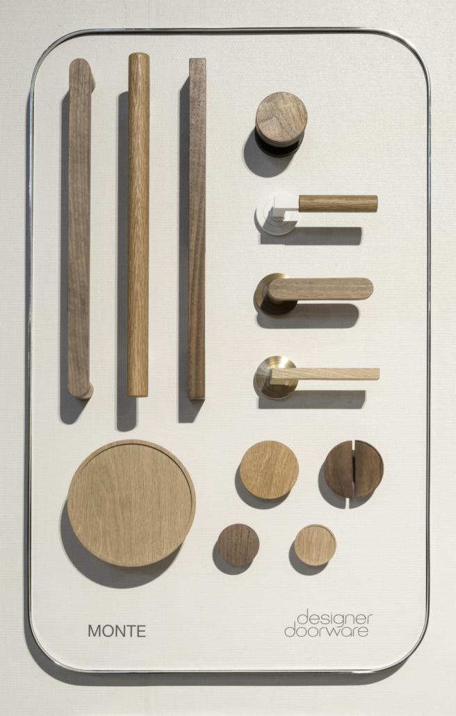 Designer Doorware wooden handle options