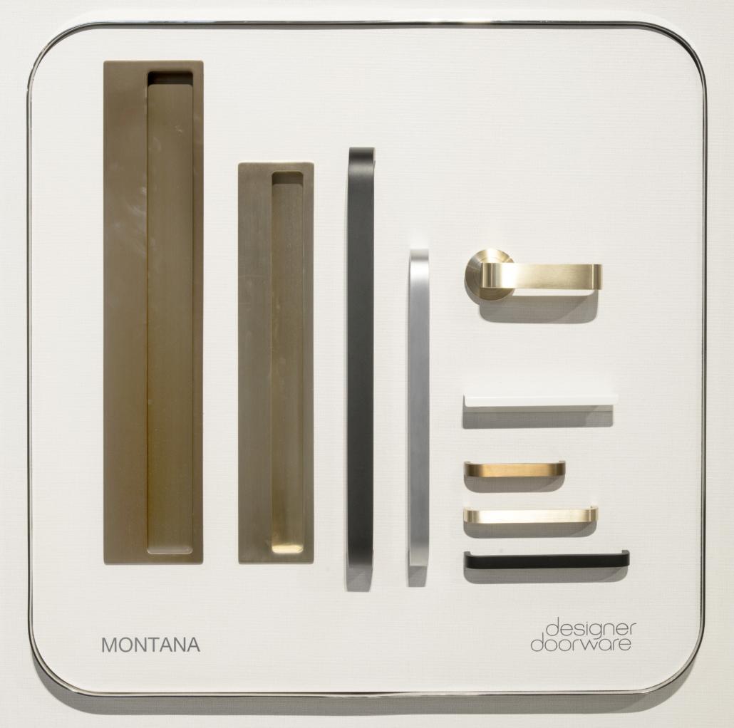Designer Doorware rectangular smooth metal handle options