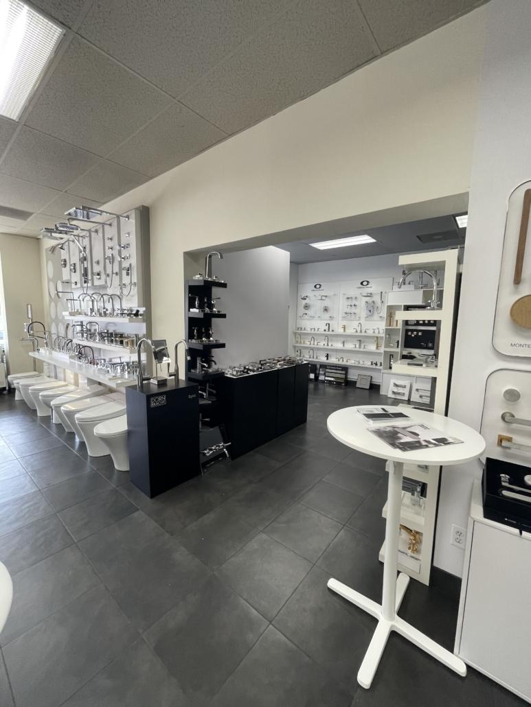Specialty Hardware + Plumbing showroom of product options