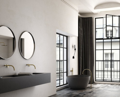 COCOON modern dark bathroom