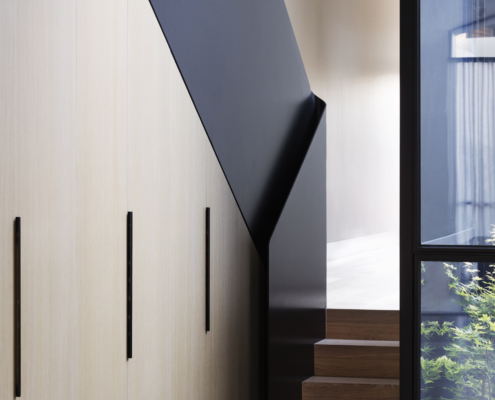 Designer Doorware cabinet thin handles in black