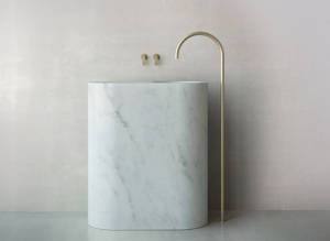 John Pawson Floor Mount Spout by COCOON